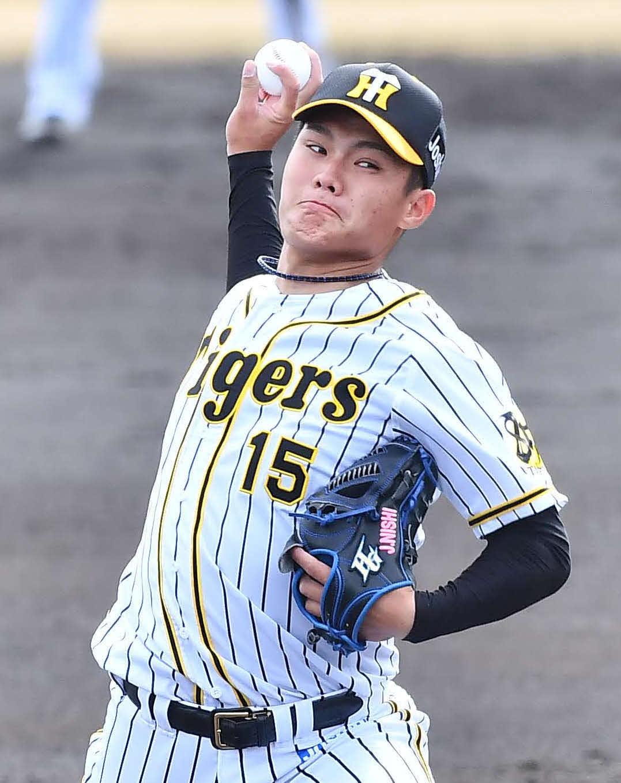 阪神西純矢(2020年3月13日撮影)