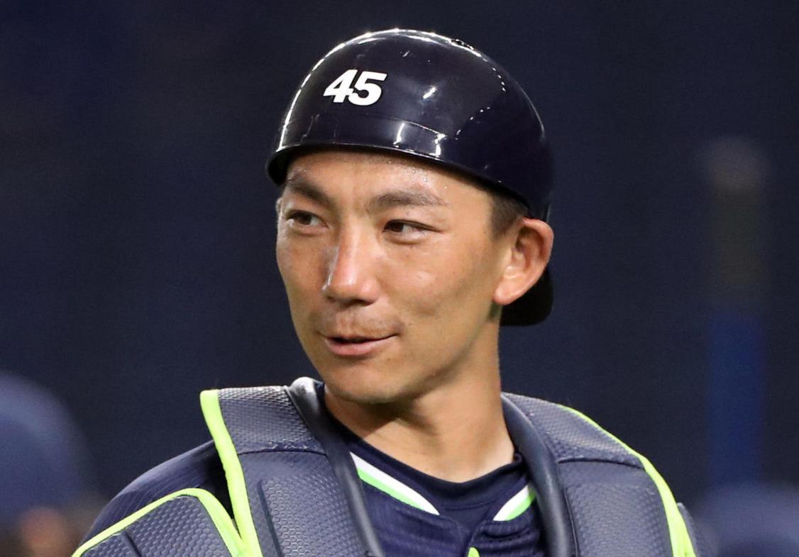 ヤクルト嶋基宏(2020年6月5日撮影)
