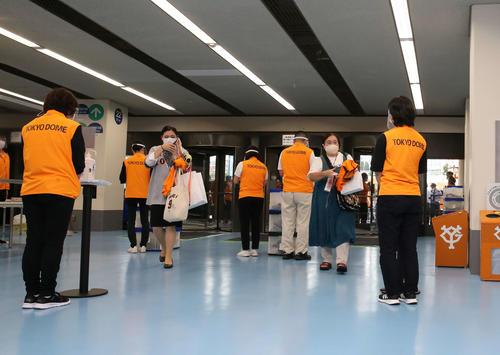 今季東京ドームで初めての有観客試合となった(撮影・河野匠)