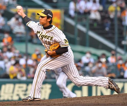 阪神大巨人6回2番手に登板する藤浪晋太郎(撮影・上田宏)