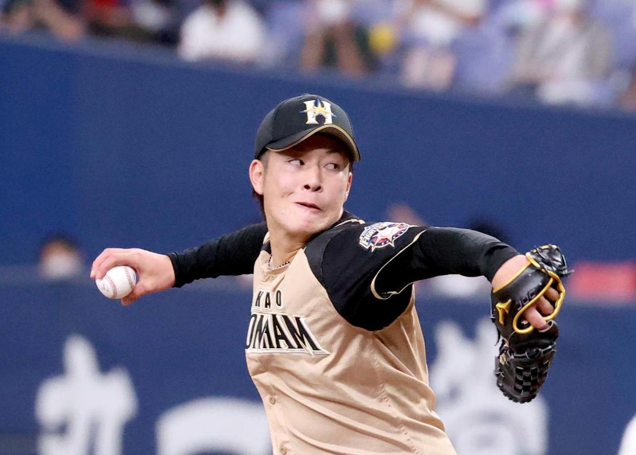 日本ハム吉田輝星(2020年9月27日)