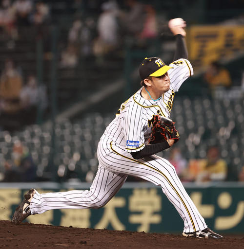 阪神対ヤクルト 6回に登板する岩貞祐太(撮影・清水貴仁)