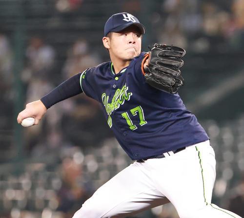阪神対ヤクルト 8回に登板する清水昇(撮影・清水貴仁)
