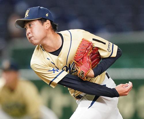 NTT西日本対Hоnda鈴鹿 2回途中から2番手として登板したNTT西日本・大江(撮影・菅敏)