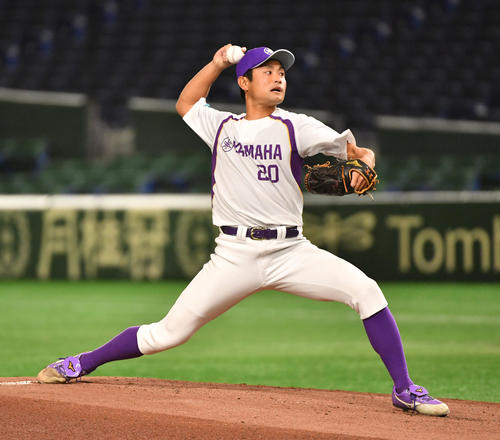 ヤマハ対NTT東日本 先発したヤマハ・高橋(撮影・柴田隆二)