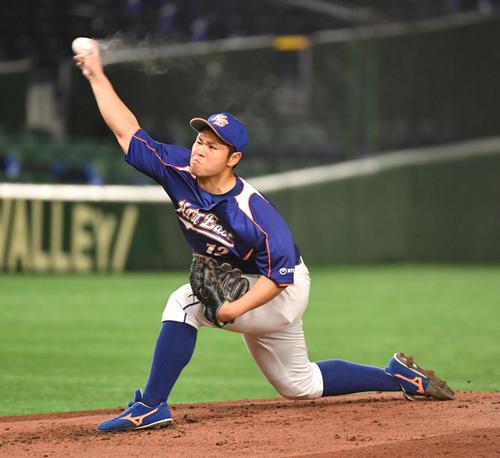 NTT東日本対日本新薬 先発したNTT東日本・大竹(撮影・柴田隆二)