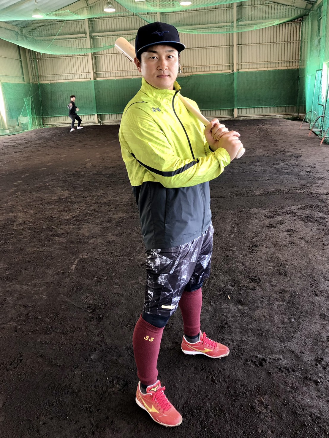 宮城県内での自主トレを公開した楽天銀次は、震災から10年となる節目のシーズンに向けて意気込む(球団提供)