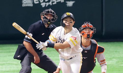 ソフトバンク中村晃、目指す全試合出場と出塁率4割 - プロ野球写真 ...