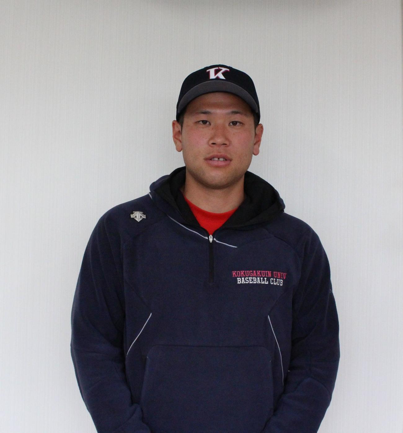 プロ注目の国学院大・福永(撮影・保坂恭子)