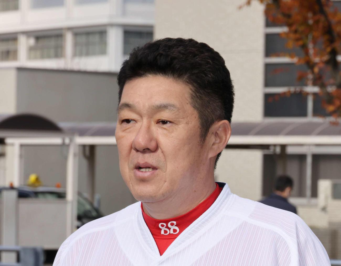 広島佐々岡真司監督(2020年12月16日撮影)