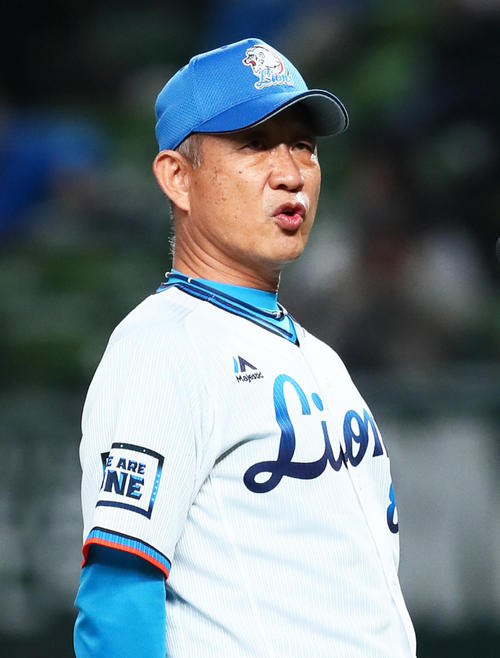 西武辻監督(2020年11月4日撮影)