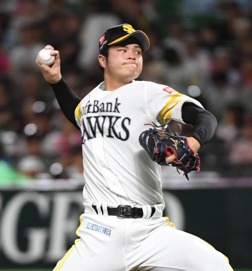 ソフトバンク甲斐野央(19年9月撮影・今浪浩三)
