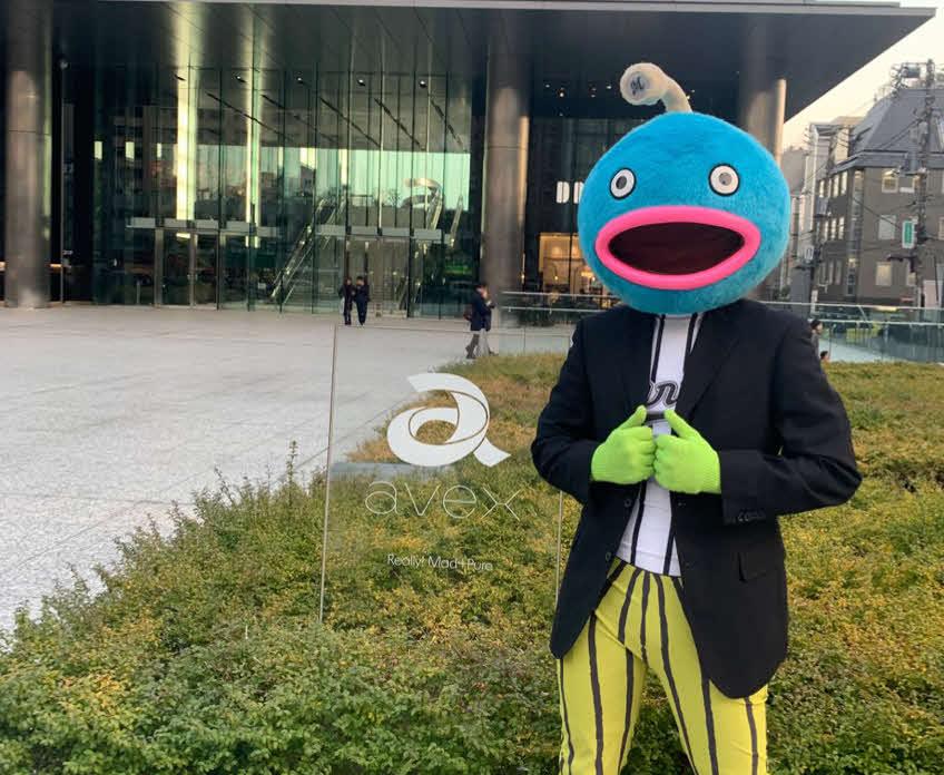 ロッテ謎の魚のデビュー曲発売日が4月24日に決まった(球団提供)