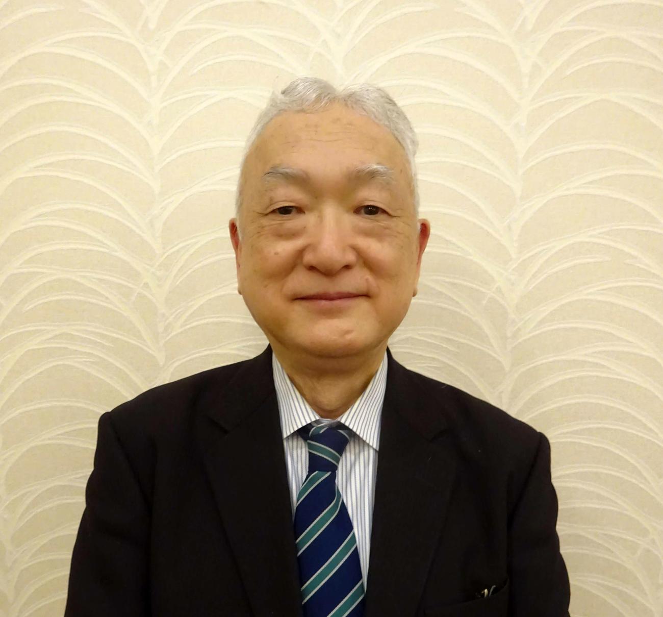 東都大学野球連盟の新理事長に就任した大島氏(撮影・保坂淑子)
