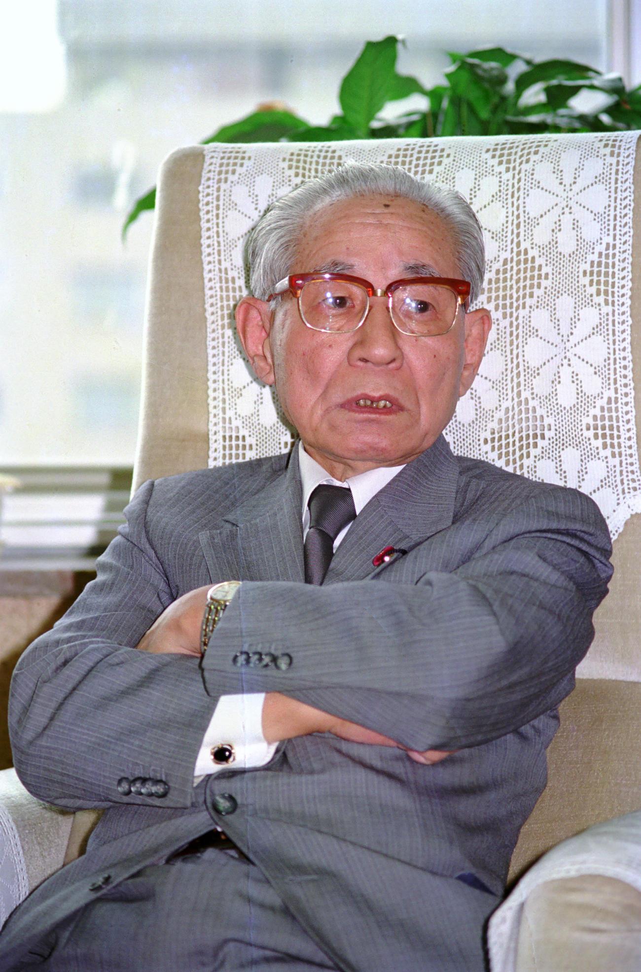 91年、インタビューに答える後藤田正晴氏