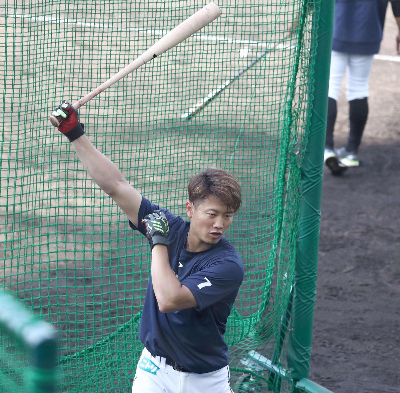 日本ハム西川遥輝(2021年3月1日撮影)