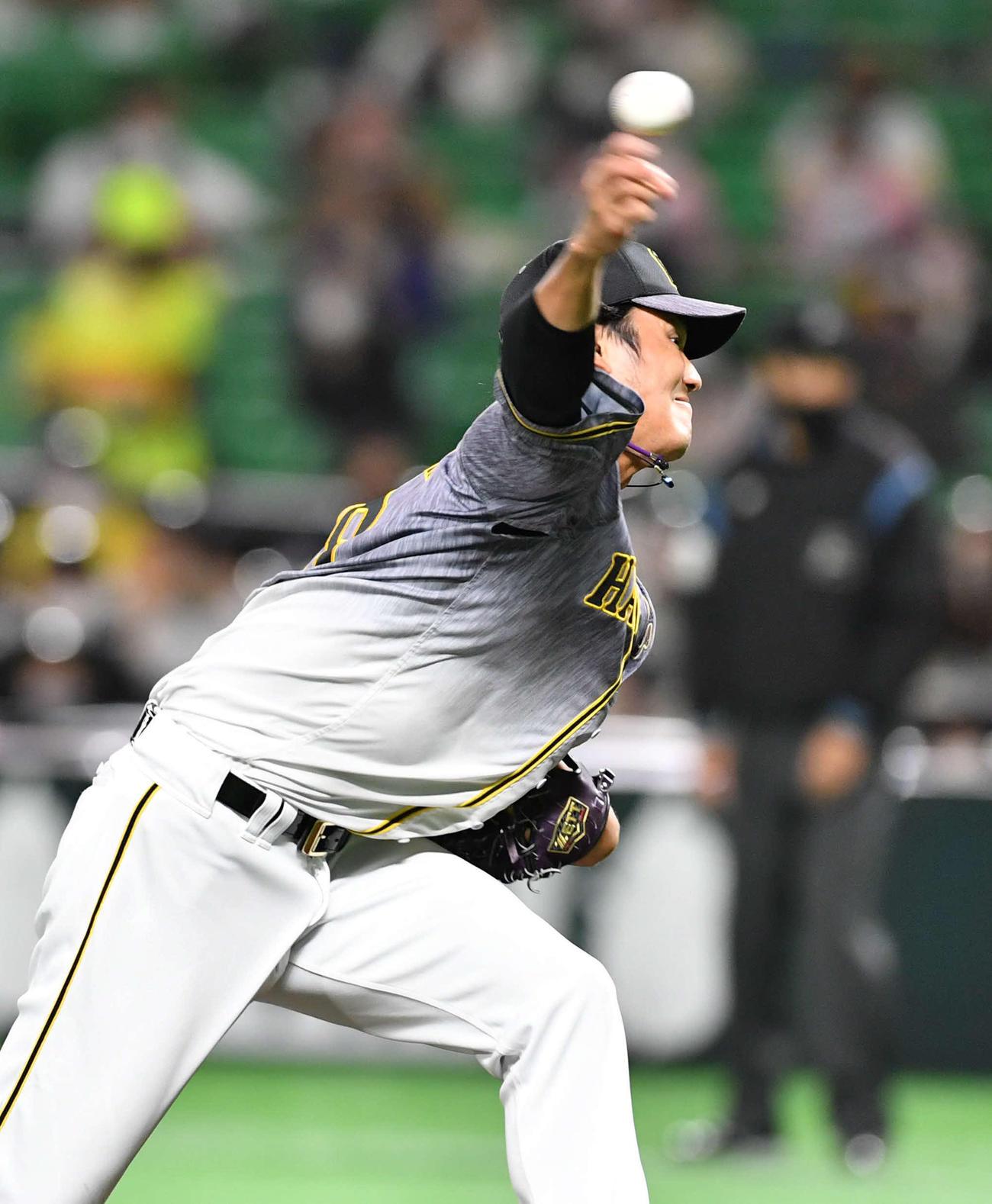 開幕投手に決まった阪神藤浪(2021年3月5日撮影)