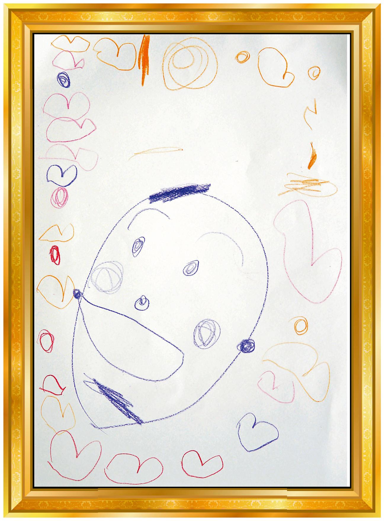 阪神岩貞3歳長女の似顔絵