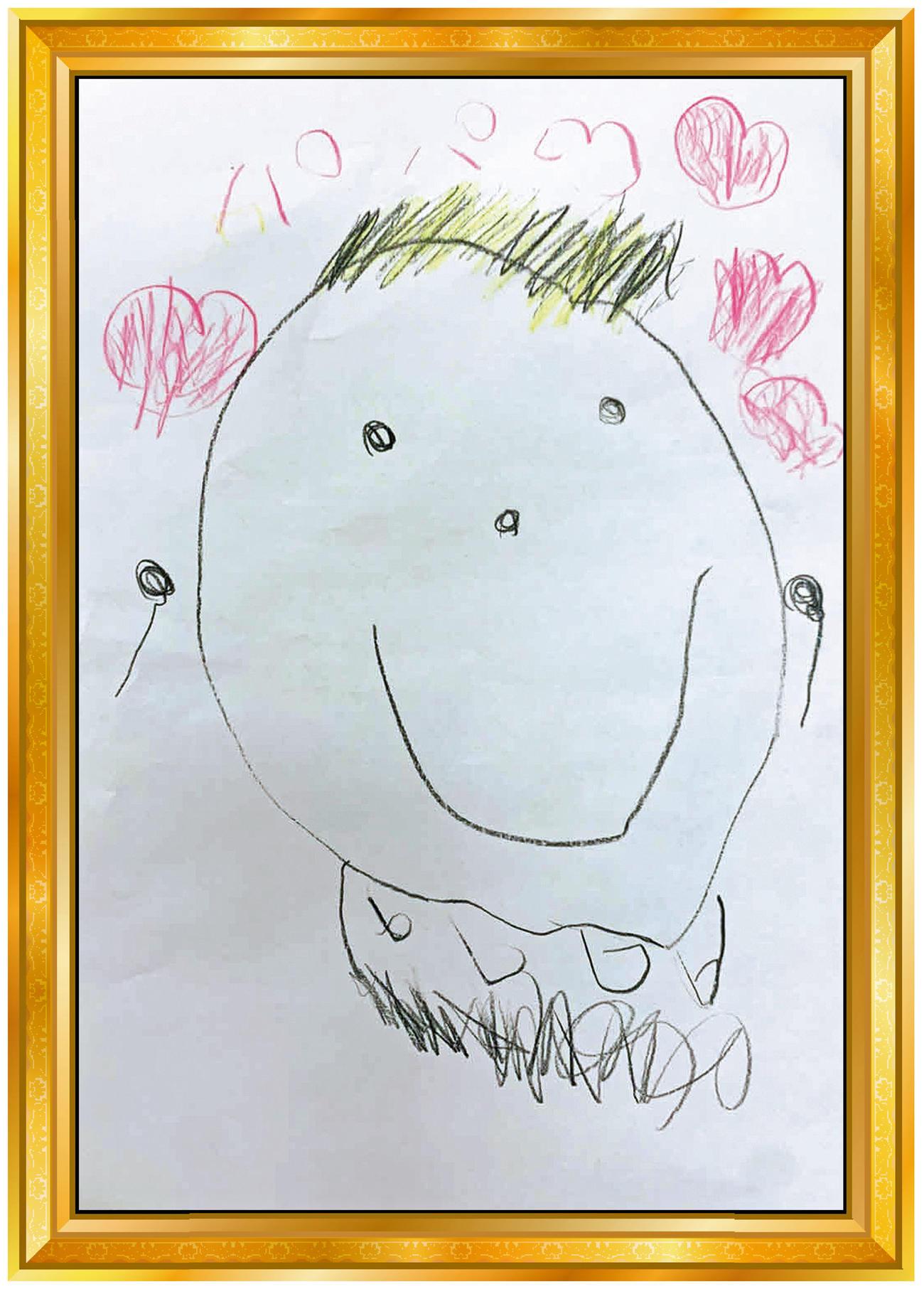 日本ハム中田5歳次女の似顔絵