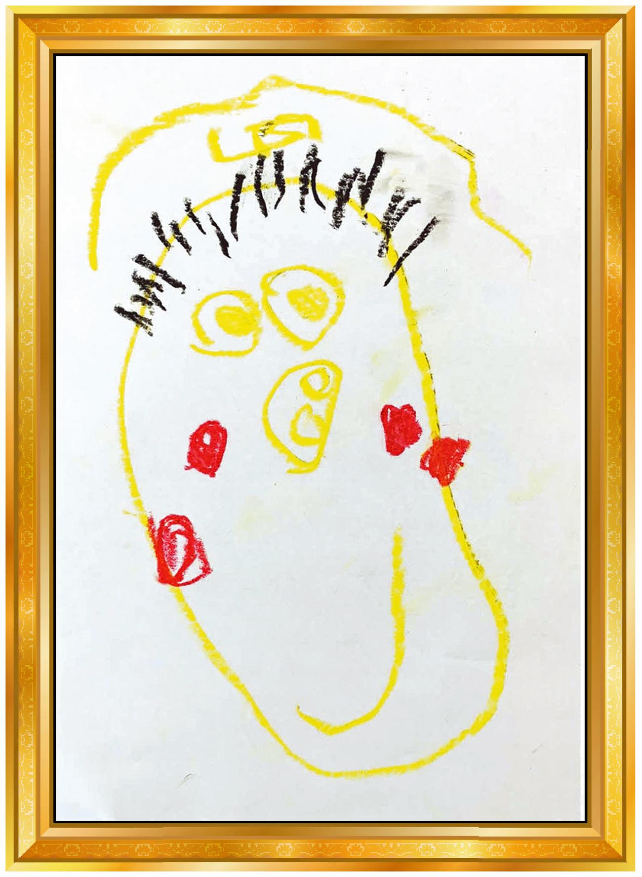ソフトバンク嘉弥真4歳長男の似顔絵