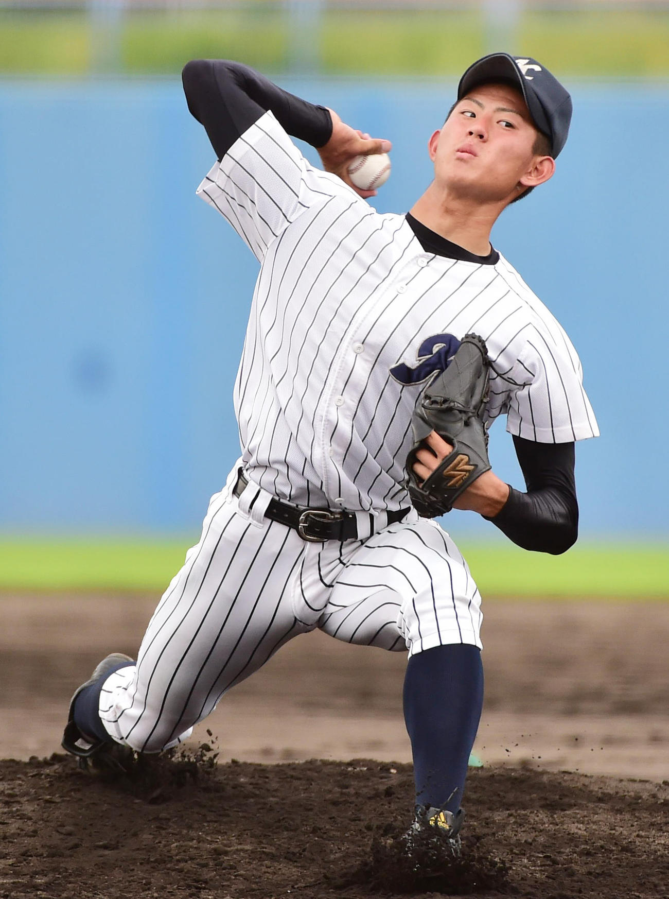 大阪偕星学園時代は投手も務めていた日本ハム姫野優也(2015年7月16日)
