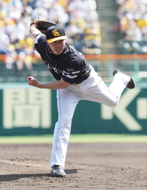阪神対ソフトバンク ソフトバンク先発和田(撮影・清水貴仁)