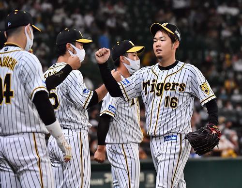 阪神対DeNA 8回3失点で降板する西勇(撮影・上田博志)