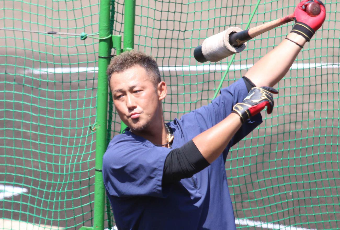 中田翔(2021年7月25日撮影)