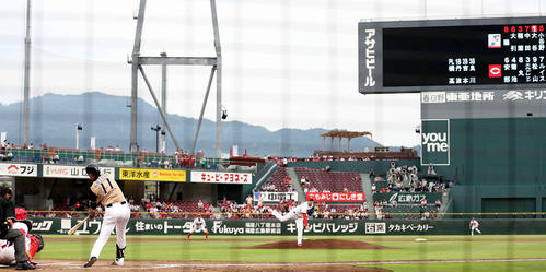 5番投手で先発した大谷翔平。打っては1安打1打点をマーク(2013年6月18日、撮影・井上学)