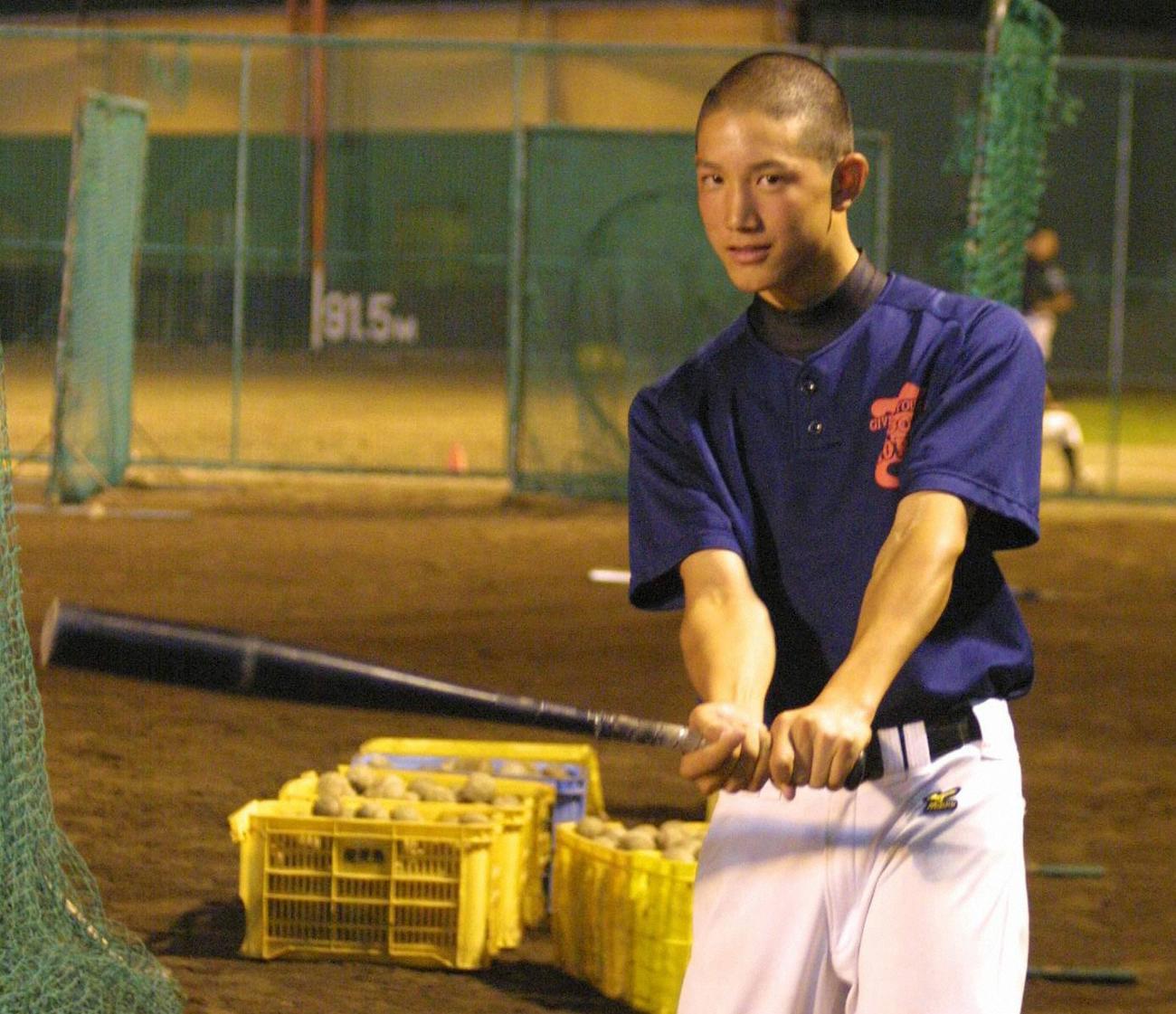 06年10月、練習中の広陵・小林誠司