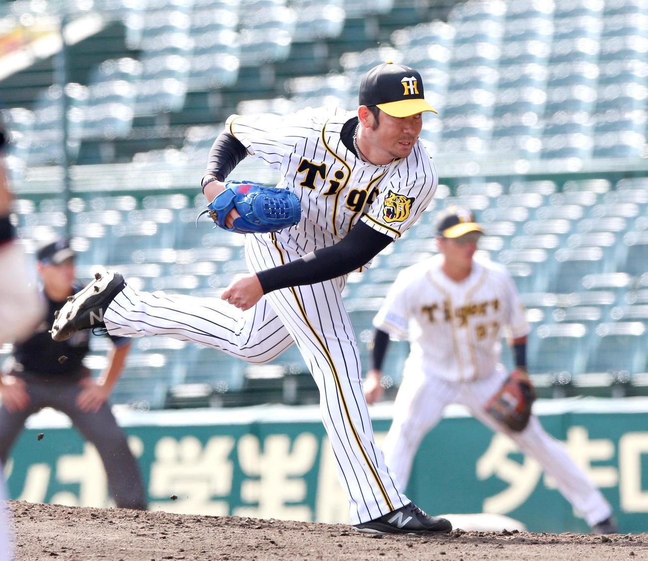 24日、ウエスタン・リーグのオリックス戦に登板した阪神岩田