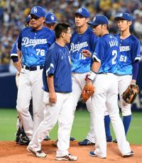 中日鈴木、投球でバランス崩しアクシデント降板 - 野球 : 日刊スポーツ