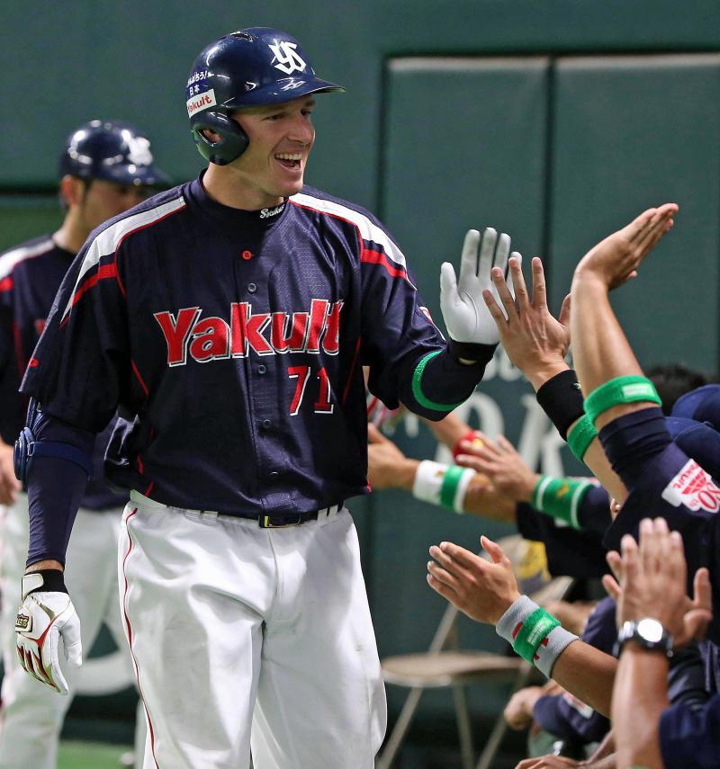 ヤ新外国人デニング「自信になった」プロ初アーチ - 野球 : 日刊スポーツ