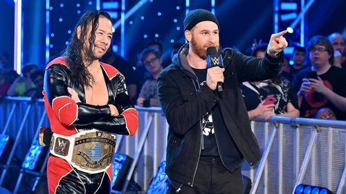 名コンビぶりを発揮するインターコンチネンタル王者中邑(左)とゼイン(C)2019 WWE, Inc. All Rights Reserved