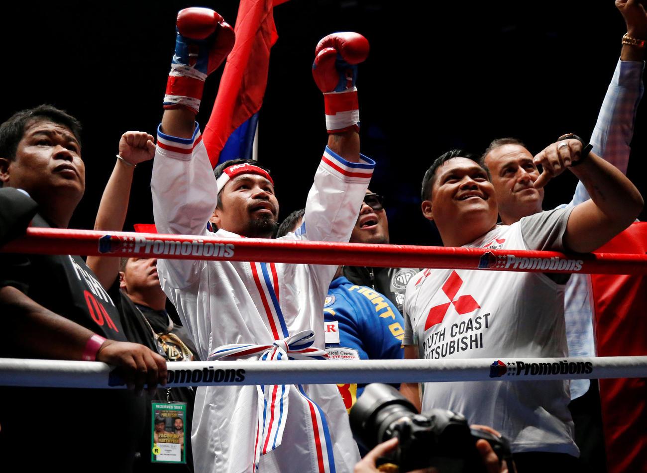 パッキャオ「コントロールできた」再起戦7回TKO - ボクシング : 日刊スポーツ
