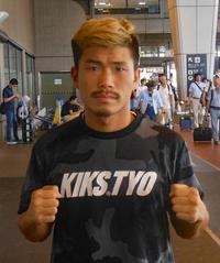 タイでのスパーリング・キャンプから帰国した木村翔