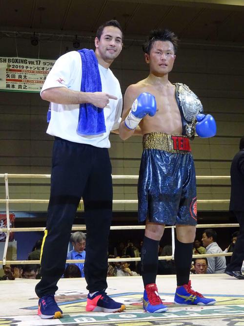 7回TKO勝利で日本ウエルター級王座を奪取した永野祐樹(撮影・加藤裕一)