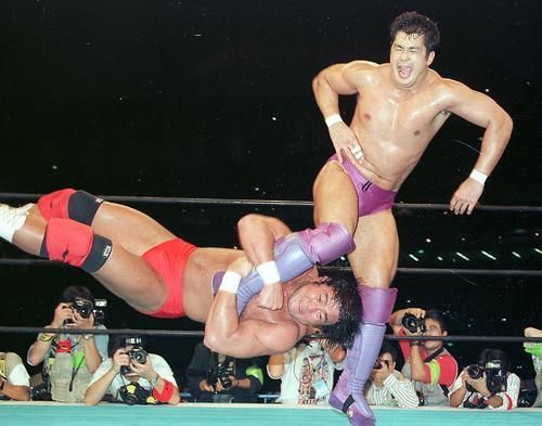 95年10月、高田延彦にドラゴンスクリューを決める武藤敬司