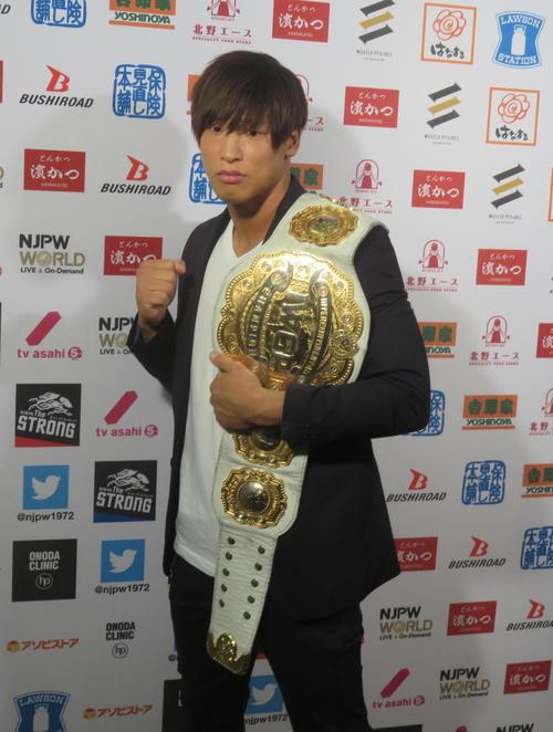 新日本プロレスへの入団を正式発表した飯伏幸太