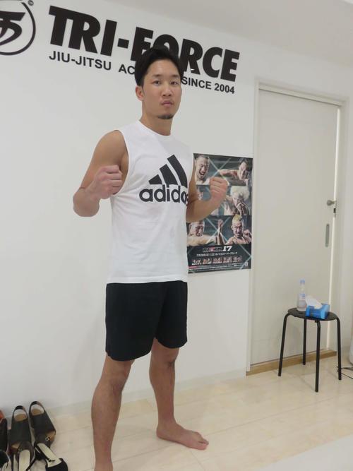 28日のRIZIN17大会の矢地戦へ向け公開練習を行った朝倉未来