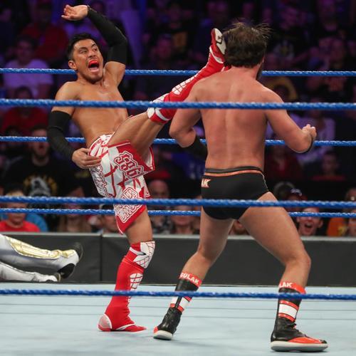 10人エリミネーション戦に出場した戸沢陽(C)2019 WWE, Inc. All Rights Reserved