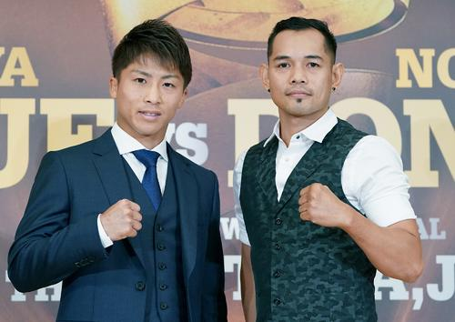 WOWOWで生中継されることが発表されたワールド・ボクシング・スーパーシリーズ決勝の井上(左)-ドネア戦(C)NAOKIFUKUDA/WOWOW