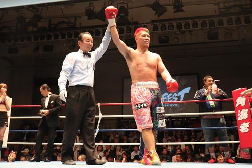 約1年ぶりの試合で勝利したWBOアジア・パシフィック・ヘビー級王者藤本京太郎