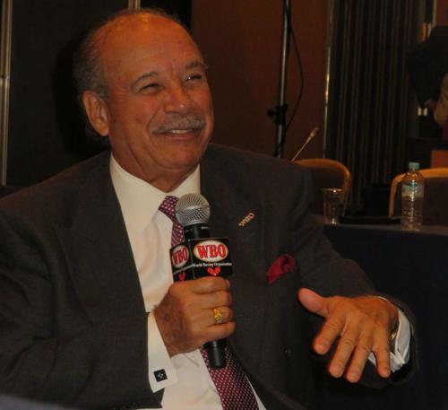 村田、井上、井岡らの名前を挙げ、日本ボクシング界への期待を会見で口にしたWBOフランシスコ・バルカルセル会長