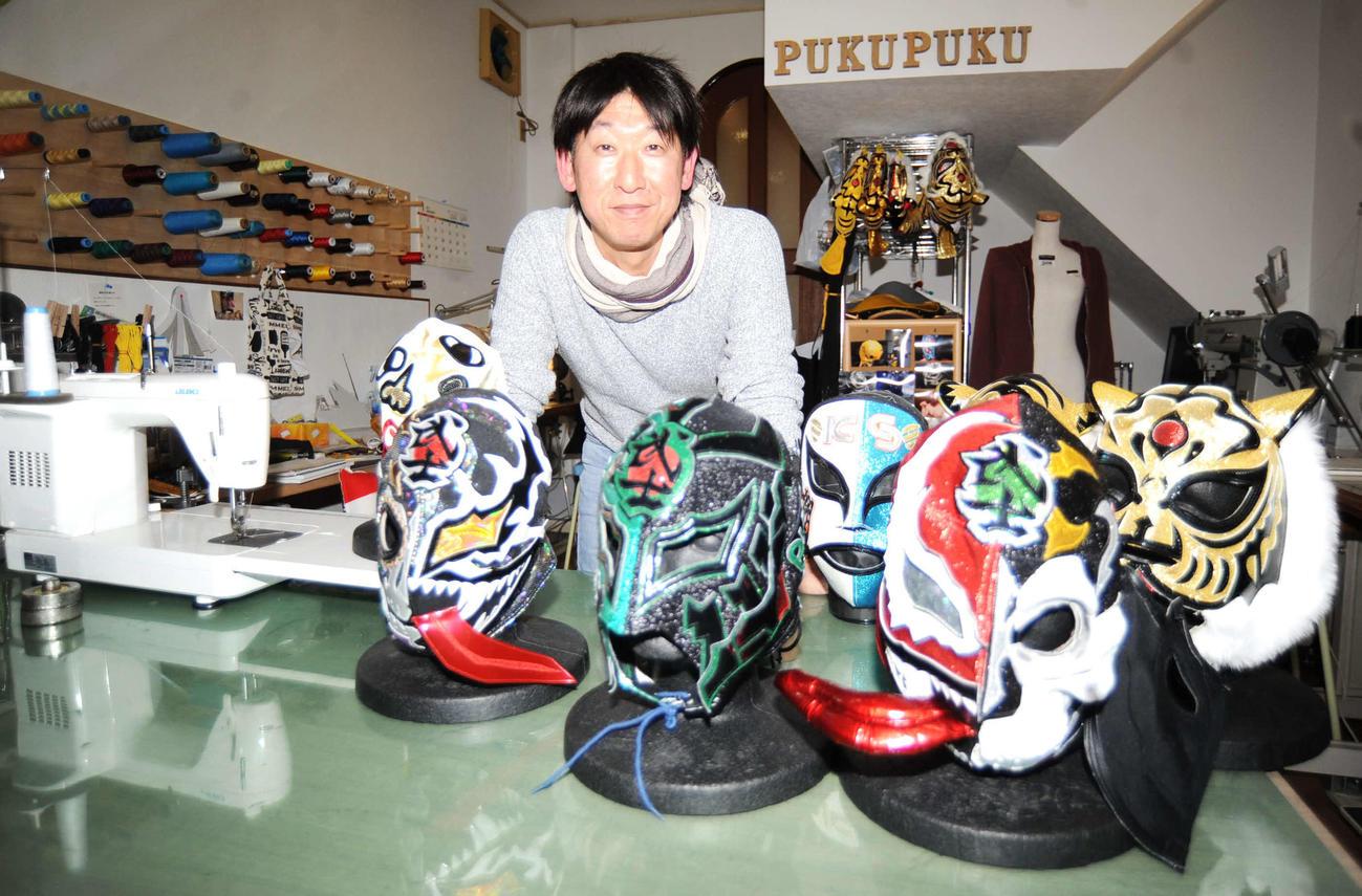 プロレスマスク職人の神谷淳氏
