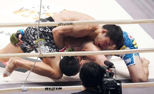 斎藤裕対摩嶋一整 2回、摩嶋を攻めTKO勝ちした斎藤(撮影・江口和貴)