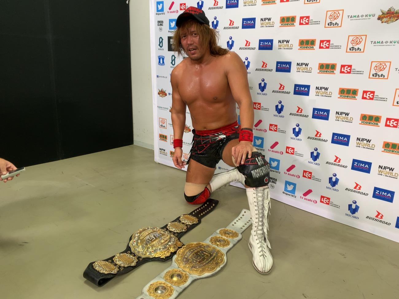 G1開幕2連勝とした内藤(新日本プロレス提供)