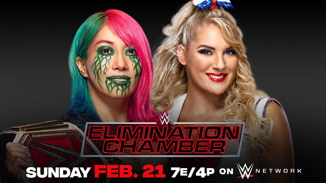 21日のPPV大会でレイシー・エバンス(右)との防衛戦が発表されたロウ女子王者アスカ(C)2021 WWE, Inc. All Rights Reserved.