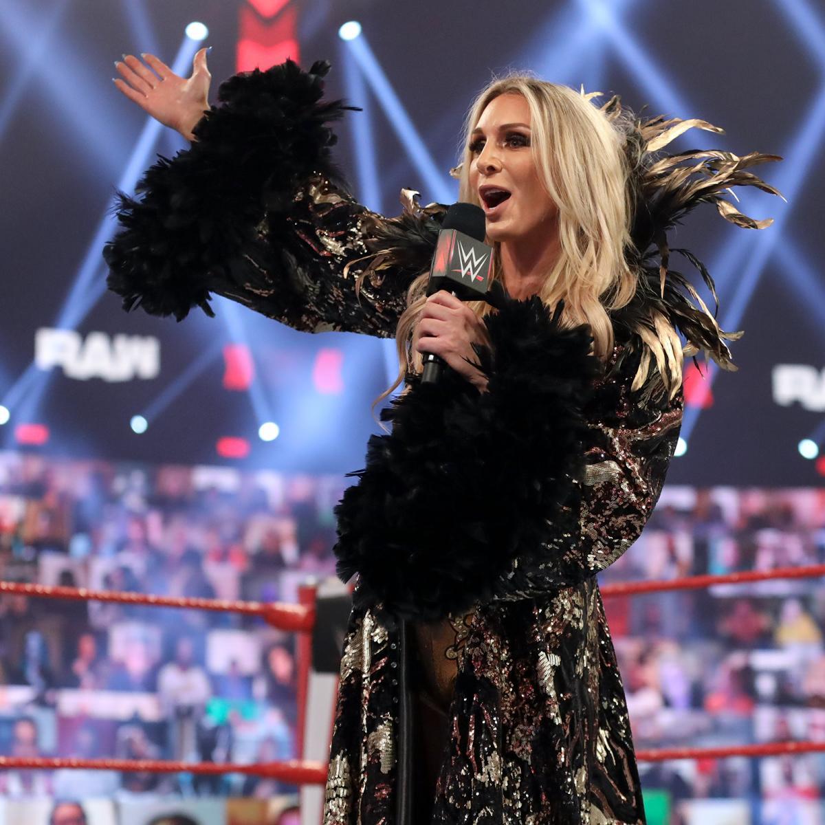 4月のレッスルマニア37大会でロウ女子王者アスカへの挑戦に意欲をみせたシャーロット・フレアー(C)2021 WWE, Inc. All Rights Reserved.