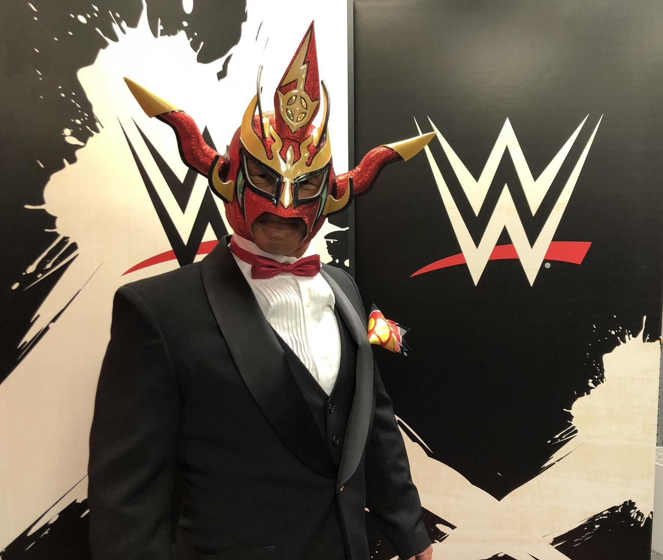 20年WWE殿堂入り式典に映像で登場した新日本プロレスの獣神サンダー・ライガー(C)2021 WWE, Inc. All Rights Reserved.